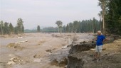 Hazelton Creek following the Mount Polley Mine spill in B.C. in early August. Photo from Mining Watch/Chris Blake.