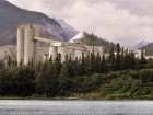 Lafarge's cement plant in Exshaw, located in the Rocky Mountains, Alberta.