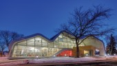 Jasper Place Library at night.  Photo: Williams Engineering Canada.