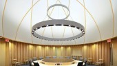 The Aboriginal Conference Settlement Suite posed special acoustic challenges due to the circular plan and dome roof.  Photo: Shai Gil/Adamson Associates.