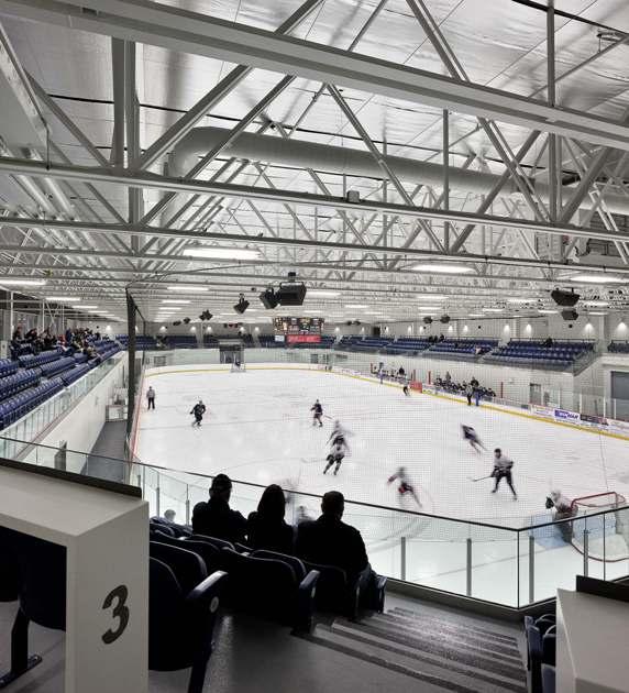 Lunenberg County Lifestyle Centre, Bridgewater, Nova Scotia.  Photo: Diamond and Schmitt Architects.