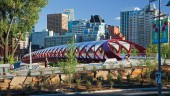 Peace Bridge, Calgary, one of four CISC 2014 award-winning projects. Photo: Roy Ooms/Stantec.