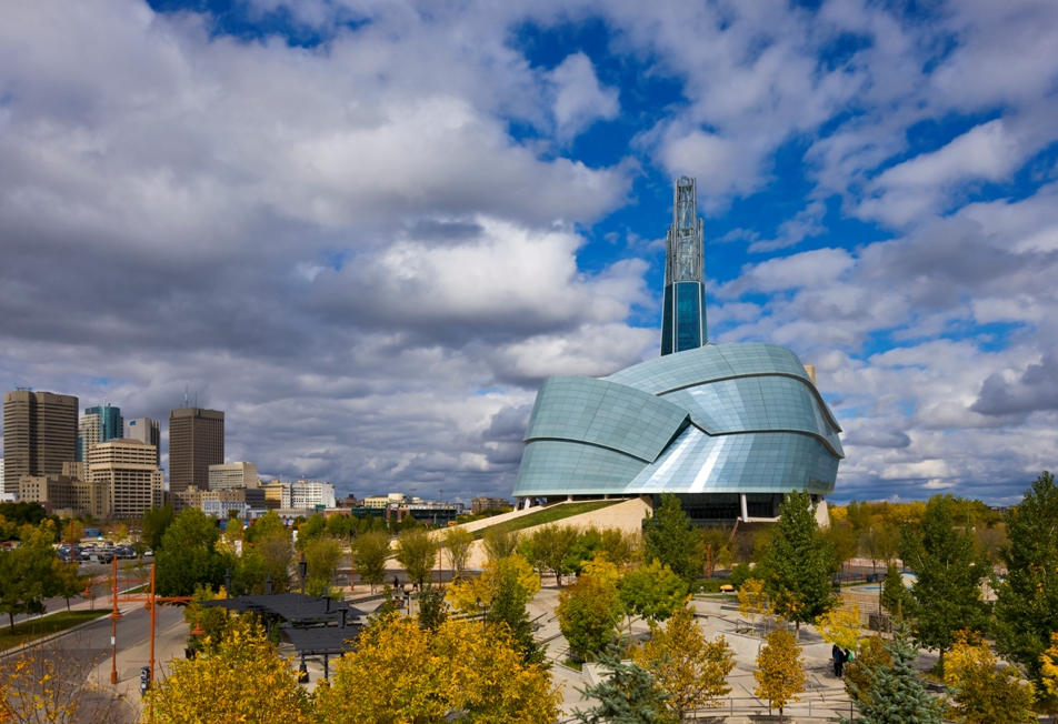 Canadian Museum for Human Rights, Winnipeg, by structural engineers CH2M HILL. The project won the Schreyer Award in the 2014 Canadian Consulting Engineering Awards.