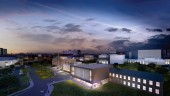 Marilyn J. Walker School of Performing Arts under construction in St. Catharines, Ontario. Architectural rendering, courtesy Diamond and Schmitt Architects