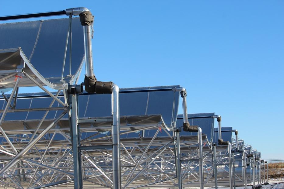 HAT Smart Solar Thermal project in Medicine Hat, Alberta. Photo courtesy City of Medicine Hat.