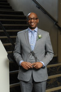 Grantley King, P.Eng., winner of the 2015 Engineering Action Award from ACEC-Manitoba. Photograph: Joel Ross Photography.