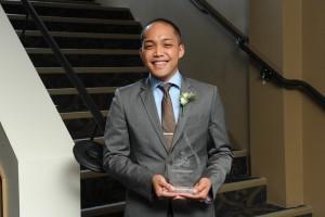 Jomar Manzano, P.Eng., winner of the 2015 Rising Star award from ACEC-Manitoba. Photo:  Joel Ross Photography.