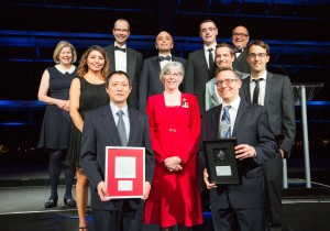 Buckland & Taylor's team receiving the  Lieutenant Governor's Award for Engineering Excellence at the ACEC-BC Awards in Vancouver on April 10.  Photo:  ACEC-BC/Kim Stallknecht.