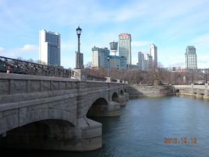 Canadian Niagara Power Forebay Bridge reconstruction.