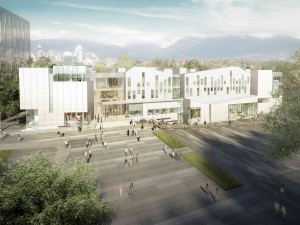 Artist's rendering of Emily Carr University of Art and Design, Vancouver.  Image courtesy of Diamond Schmitt Architects.