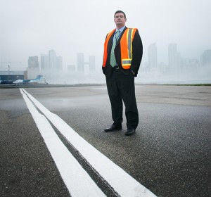 James Lindsay, WSP aviation director, at the Billy Bishop Toronto City Airport.  Image courtesy WSP.