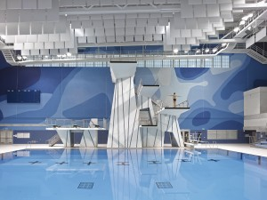The PanAm Aquatics Centre at the University of Toronto - Scarborough.  Photograph  courtesy of NORR Limited, Architects Engineers Planners/Shai Gil Photography.