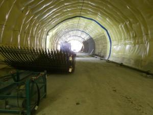 Billy Bishop Island Airport Tunnel under construction.  Photo:  Ports Toronto.