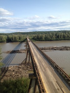 Fort Nelson River Bridge, B.C.  Photo courtesy B.C. Ministry of Transportation and Infrastructure