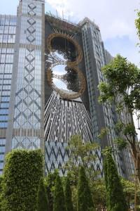 "Studio City with ""Golden Reel"" ferris wheel, Macau, China."
