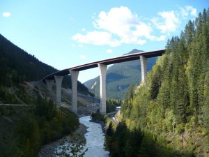 Park Bridge on BC Highway 1 between Revelstoke and Golden, constructed in 2007. TranBC.
