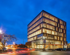 Wood Innovation Design Centre in downtown Prince George, B.C. Ema Peter Photography.