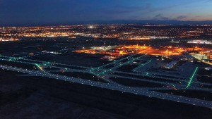 Calgary International Airport, approaching the runway. Photo: Associated Engineering/CH2M