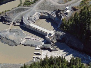 Forrest Kerr Hydroelectric Power Project, Iskut River, B.C. Aerial View. Image: Hatch