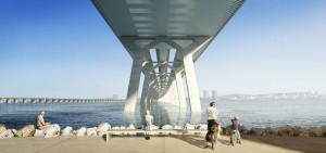 New St. Lawrence Bridge, Montreal, artist's rendering. Image: Buckland & Taylor.