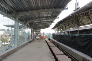 Lougheed station and tracks under construction on Vancouver's Evergreen Line. Photo: BC Ministry of Transportation.