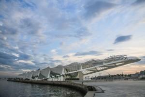Museum of the Future in Rio de Janeiro, designed by Santiago Calatrava. Image: Bernard Lessa/designboom.
