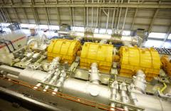 Turbine hall at the Darlington Nuclear Station, Clarington, Ontario. Photo: OPG.