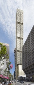 Rendering of The One, tower on the southwest corner of Yonge and Bloor Streets, Toronto. Foster & Partners/CoreArchitects.