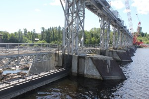 Grand Falls Hydro Facility work in process. Image courtesy Stantec.