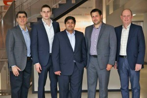 Thornton Tomasetti new Toronto Team. Chairman and CEO Tom Scarangello is at far left, and associate principal Chris Minerva is at far right.