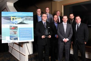 KGS team accepting their 2016 Keystone Award from ACEC-Manitoba. Photo: Denis Deroche.