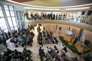 Gordon Oakes Red Bear Student Centre, University of Saskatchewan, official opening.