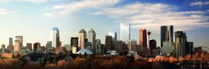 Calgary skyline with image of Brookfield Place Calgary at centre right. Image courtesy DIALOG.