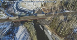 Artist's rendering of new Salmon River Bridge.  Image: BC Ministry of Transportation & Infrastructure