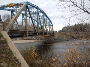 The Old Salmon River Bridge, near Prince George, B.C.  Photo:  McElhanney.
