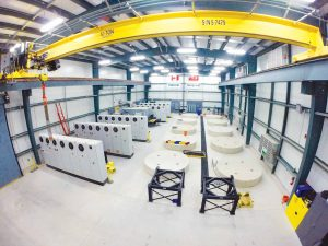 Inside the NRStor Minto Flywheel Project building. Image: NRStor.