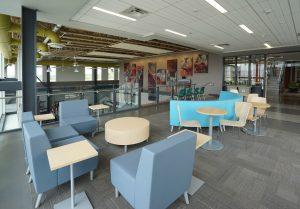 UPEI School of Sustainable Design Engineering lounge.  Photo: Architecture49.