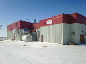 Expanded wastewater treatment plant building, Pangnirtung, Nunavut. Photo: exp