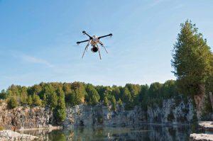 Aeryon Skyranger drone used to inspect a quarry. Image: Aeryon/courtesy AirVu/UAV