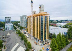 Brock Commons, University of B.C., Vancouver. Photograph: naturally:wood/KK Law