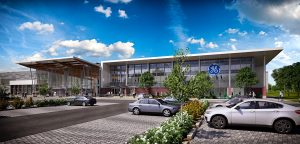 Artist's rendering of the GE Brilliant Factory to be built in Welland, Ontario. Image courtesy PCL
