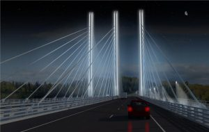 Nipigon Bridge concept, northern Ontario. Image: Ministry of Transportation Ontario.