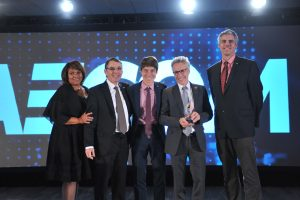 AECOM Montreal team accepting the Ambassador Award at the 2016 Canadian Consulting Engineering Awards in Ottawa on October 25. Photo: ACEC