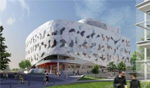 Bergeron Centre for Engineering Excellence at York University, artist's rendering. The project won one of the CanBIM Awards presented in Toronto on October 5 and was a tour venue for the CanBIM conference.
