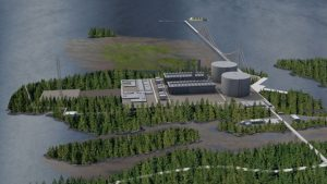 Artist's rendering of Pacific Northwest LNG plant.