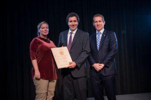 Urban Systems receiving the 2016 APEGBC Environmental Award.