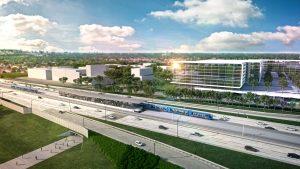 Artist's rendering of REM transit station, Montreal. Image: CPDQ Infra.