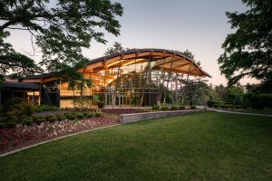 Rock Garden Visitor Centre, Royal Botanical Gardens, Hamilton, Ontario. Image: Ontario Wood WORKS!