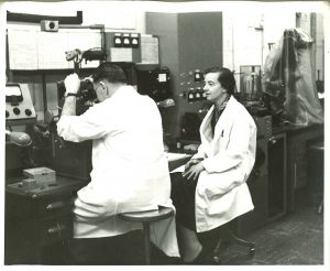 Ursula Franklin at the Ontario Research Foundation in 1953. Image courtesy Monica Franklin.