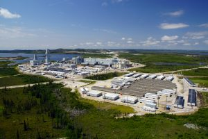 Aerial view of Goldcorp Eleonore Mine. Image: SNC-Lavalin.